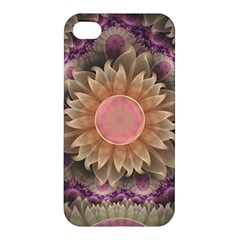 Pastel Pearl Lotus Garden Of Fractal Dahlia Flowers Apple Iphone 4/4s Hardshell Case by jayaprime