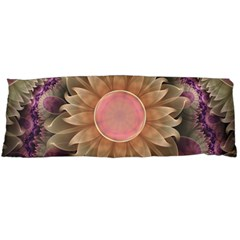 Pastel Pearl Lotus Garden Of Fractal Dahlia Flowers Body Pillow Case (dakimakura) by jayaprime