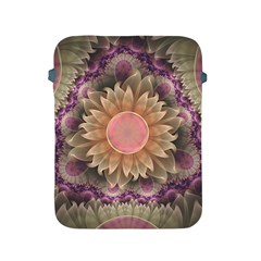 Pastel Pearl Lotus Garden Of Fractal Dahlia Flowers Apple Ipad 2/3/4 Protective Soft Cases by jayaprime