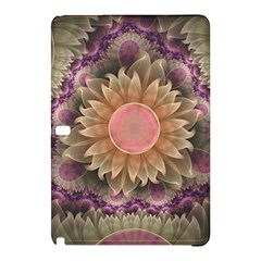Pastel Pearl Lotus Garden Of Fractal Dahlia Flowers Samsung Galaxy Tab Pro 12 2 Hardshell Case by jayaprime