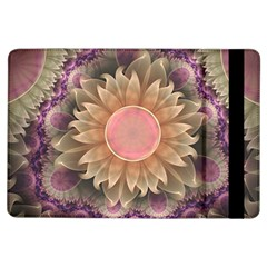 Pastel Pearl Lotus Garden Of Fractal Dahlia Flowers Ipad Air Flip by jayaprime
