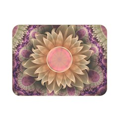 Pastel Pearl Lotus Garden Of Fractal Dahlia Flowers Double Sided Flano Blanket (mini)  by jayaprime