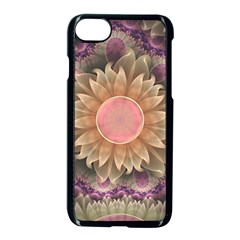 Pastel Pearl Lotus Garden Of Fractal Dahlia Flowers Apple Iphone 7 Seamless Case (black) by jayaprime