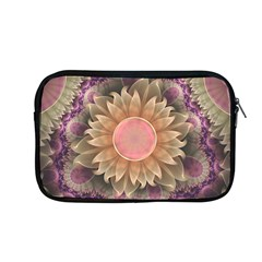Pastel Pearl Lotus Garden Of Fractal Dahlia Flowers Apple Macbook Pro 13  Zipper Case by jayaprime