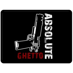 Absolute Ghetto Double Sided Fleece Blanket (large)