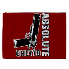 Absolute Ghetto Cosmetic Bag (xxl)  by Valentinaart