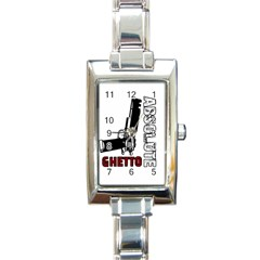 Absolute Ghetto Rectangle Italian Charm Watch by Valentinaart