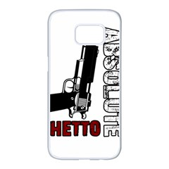 Absolute Ghetto Samsung Galaxy S7 Edge White Seamless Case by Valentinaart