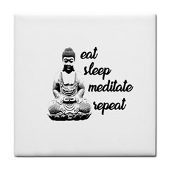 Eat, Sleep, Meditate, Repeat  Tile Coasters by Valentinaart