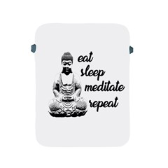 Eat, Sleep, Meditate, Repeat  Apple Ipad 2/3/4 Protective Soft Cases by Valentinaart