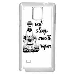 Eat, Sleep, Meditate, Repeat  Samsung Galaxy Note 4 Case (white)