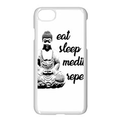Eat, Sleep, Meditate, Repeat  Apple Iphone 7 Seamless Case (white) by Valentinaart