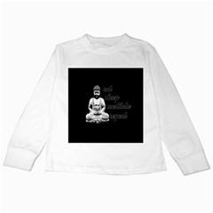 Eat, Sleep, Meditate, Repeat  Kids Long Sleeve T Shirts by Valentinaart
