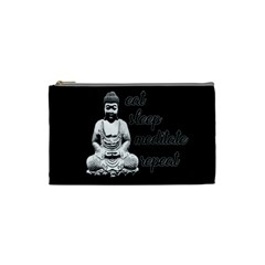 Eat, Sleep, Meditate, Repeat  Cosmetic Bag (small)  by Valentinaart