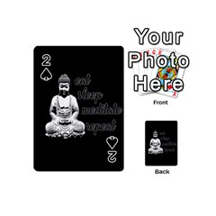 Eat, Sleep, Meditate, Repeat  Playing Cards 54 (mini)  by Valentinaart