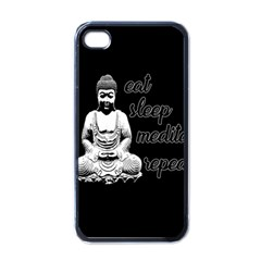 Eat, Sleep, Meditate, Repeat  Apple Iphone 4 Case (black)