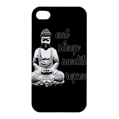 Eat, Sleep, Meditate, Repeat  Apple Iphone 4/4s Hardshell Case by Valentinaart