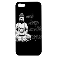 Eat, Sleep, Meditate, Repeat  Apple Iphone 5 Hardshell Case