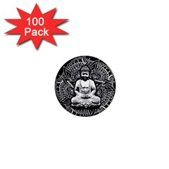 Ornate Buddha 1  Mini Magnets (100 Pack)  by Valentinaart