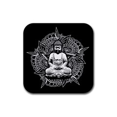 Ornate Buddha Rubber Coaster (square)  by Valentinaart