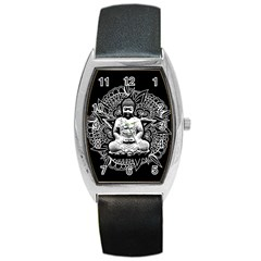 Ornate Buddha Barrel Style Metal Watch by Valentinaart