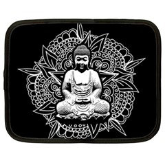 Ornate Buddha Netbook Case (xxl)  by Valentinaart