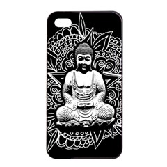 Ornate Buddha Apple Iphone 4/4s Seamless Case (black) by Valentinaart