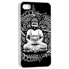 Ornate Buddha Apple Iphone 4/4s Seamless Case (white)