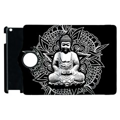 Ornate Buddha Apple Ipad 2 Flip 360 Case by Valentinaart