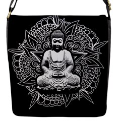 Ornate Buddha Flap Messenger Bag (s) by Valentinaart