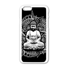 Ornate Buddha Apple Iphone 6/6s White Enamel Case