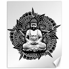 Ornate Buddha Canvas 16  X 20   by Valentinaart