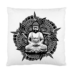 Ornate Buddha Standard Cushion Case (two Sides) by Valentinaart