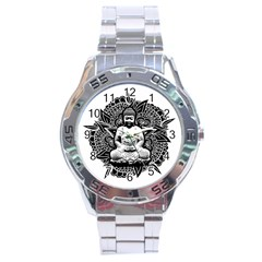 Ornate Buddha Stainless Steel Analogue Watch by Valentinaart