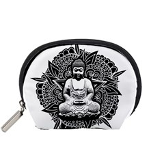 Ornate Buddha Accessory Pouches (small)  by Valentinaart