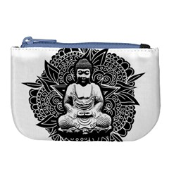 Ornate Buddha Large Coin Purse by Valentinaart