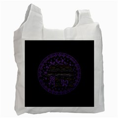Ornate Mandala Elephant  Recycle Bag (one Side) by Valentinaart