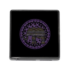 Ornate Mandala Elephant  Memory Card Reader (square)
