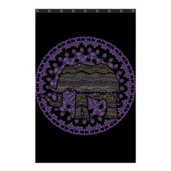 Ornate Mandala Elephant  Shower Curtain 48  X 72  (small)  by Valentinaart
