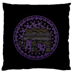 Ornate Mandala Elephant  Standard Flano Cushion Case (two Sides) by Valentinaart