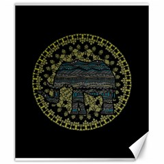 Ornate Mandala Elephant  Canvas 20  X 24   by Valentinaart