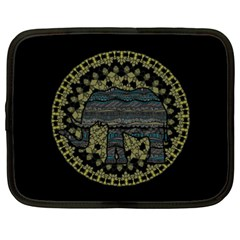 Ornate Mandala Elephant  Netbook Case (xxl)  by Valentinaart