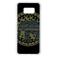Ornate Mandala Elephant  Samsung Galaxy S8 Plus White Seamless Case by Valentinaart