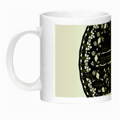 Ornate Mandala Elephant  Night Luminous Mugs by Valentinaart