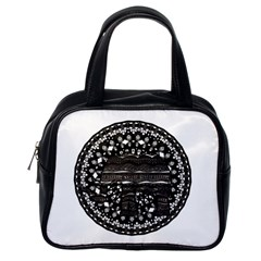 Ornate Mandala Elephant  Classic Handbags (one Side) by Valentinaart