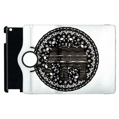 Ornate Mandala Elephant  Apple Ipad 2 Flip 360 Case
