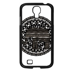 Ornate Mandala Elephant  Samsung Galaxy S4 I9500/ I9505 Case (black) by Valentinaart