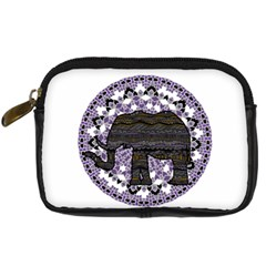 Ornate Mandala Elephant  Digital Camera Cases by Valentinaart