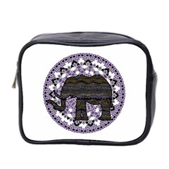 Ornate Mandala Elephant  Mini Toiletries Bag 2 Side