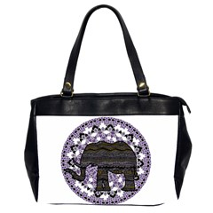 Ornate Mandala Elephant  Office Handbags (2 Sides)  by Valentinaart